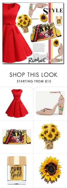 """Sunflower !"" by emapolyvore ❤ liked on Polyvore featuring Too Faced Cosmetics"