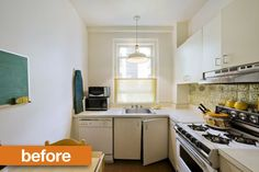 Before & After: Little Kitchen, long and narrow