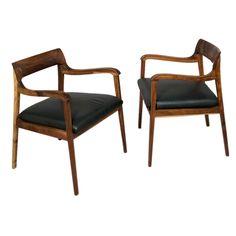 "Pair of Edward Wormley ""Riemerschmid"" Arm Chairs for Dunbar"