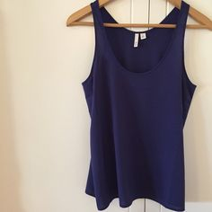 Chiffon Racerback Top Navy top. Brand new without tags. Never worn. Size S. Selling because I'm now pregnant! Perfect condition. Purchased from Nordstrom. Looks great under a blazer. No Paypal. No trades. 10% discount on all bundles made with the bundle feature. No offers will be considered unless you use the make me an offer feature.     Please follow  Instagram: BossyJoc3y  Blog: www.bossyjocey.com Frenchi Tops Tank Tops