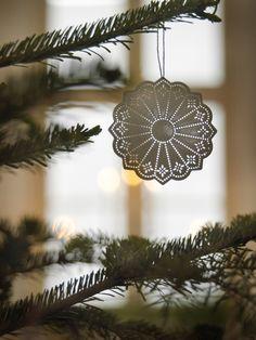 Lace paper tree ornament
