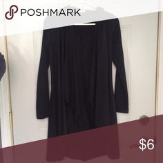 Hooded long cardigan size small. Black. Worn once. Has hood! Just Ginger brand. Thin lightweight material Tops Blouses