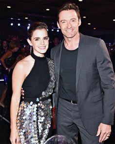 Emma Watson — watsonlove: Emma Watson and Hugh Jackman at the...