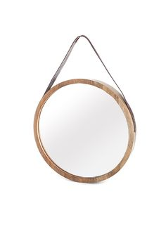 Round Mirror with Leather Strap - Beaver Canoe for Target