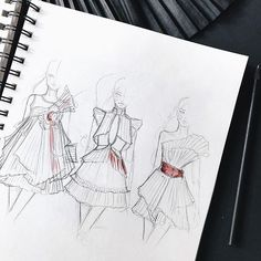 Fashion illustration by@marina_oberlin  fashion sketch, drawing, art #sketch #fashionsketch