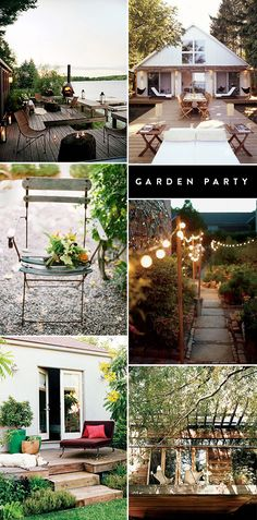 garden / backyard ideas from sfgirlbybay Cottage Shutters, Cottage Porch, Porch Garden, Dream House Interior, Dream Home Design, Indoor Outdoor Living, Outdoor Spaces, House Stairs, Back Patio