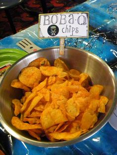Boba-Q chips for a star wars party