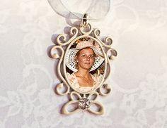 Ivory & Rhinestone Memorial Photo Bouquet Charm #32 -  Cream Off White Memory Shabby Chic French Cottage on Etsy, $20.00