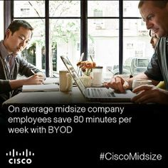 What could you do with an extra 80 minutes per week? This is the average time midsize company employees save with BYOD.