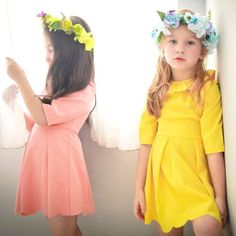 (Mommy & Me) Three-quarter sleeve lotus leaf collar dress (infant/toddler/girl) http://purrr.co/products/mommy-me-three-quarter-sleeve-lotus-leaf-collar-dress-infant-toddler-girl?utm_campaign=crowdfire&utm_content=crowdfire&utm_medium=social&utm_source=pinterest