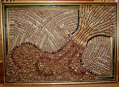 wine cork board very inticate one of a kind by winecorkworks