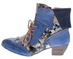 TMA Damen Stiefeletten Echtleder Comfort Boots Leder Halb Schuhe TMA 6188 Blau Gr. 40 - http://on-line-kaufen.de/tma/40-eu-tma-damen-stiefeletten-echtleder-comfort-gr
