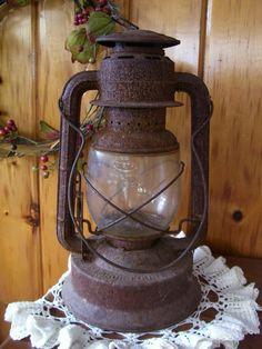 ornate primitive decor of the late 1800's   SALE Large Antique Dietz No.2 NY D-Lite Rail Road Kerosene Lantern ...