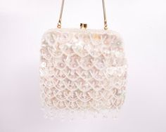 Vintage Sequin Beaded Purse Satin Handbag by LeVintageGalleria, $49.00