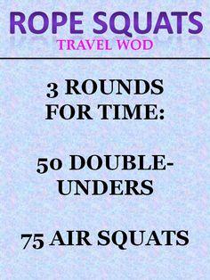 Rope Squats Travel WOD #crossfit