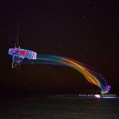 Impressive night #kitesurf photoshot image courtesy of http://www.photoboracay.com