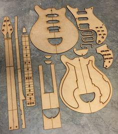 Guitar Building Templates Brian May Red Special Guitar Diy, Guitar Shop, Box Guitar, Guitar Parts, Acoustic Guitar, Brian May Red Special, Guitar Tuners, Telecaster Guitar, Les Paul