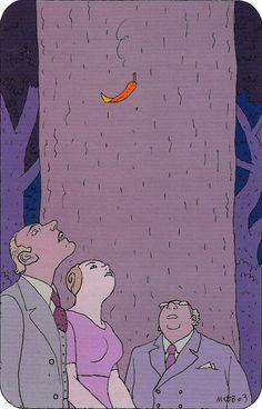 "Moebius 2003 Illustration #38 for ""L'ARBRE DES POSSIBLES"" (The Tree of Possibles) by Bernard WERBER ALBIN MICHEL Edition, Paris 2003"