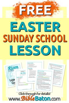 Teaching kids about the death of Jesus? Click through for a free Easter Sunday School lesson for kids. Perfect for children's church ministry! Sunday School Activities, Sunday School Lessons, Easter Sunday School Lesson, Bible Activities, Easter Activities, Learning Activities, Bible Lessons For Kids, Teaching Kids, Church Ministry