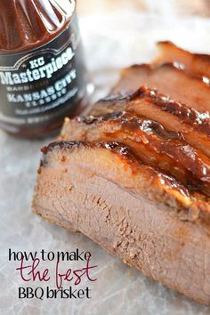 Just in time for summer entertaining - my favorite tips on how to make the best BBQ brisket! | brisket recipes | recipes for entertaining | bbq brisket | bbq recipes || Kitchen Meets Girl