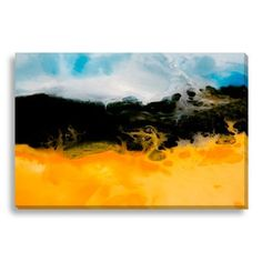 "Gallery Direct Abstract Rockpool I by Lisa Fabian Graphic Art on Wrapped Canvas Size: 24"" H x 36"" W x 1.5"" D"