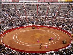 Bullfighting, Mexico City Thousands of spectators gather at a bullring in Mexico City, where matadors and vaqueros, or cowboys, provide a show for the audience. Many of the world's top bullfighters begin in Spain in March, move to Lima for a month in October, then head to Mexico to close the year.