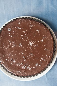 // Bittersweet Chocolate Dulce de Leche Tart