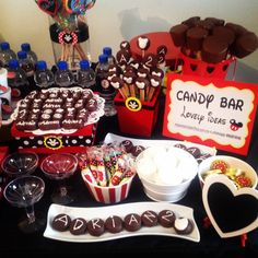 Mickey mouse candy bar decoration