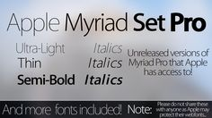 Myriad Set Pro Fonts - Download - Updated 2.0 by simalary44