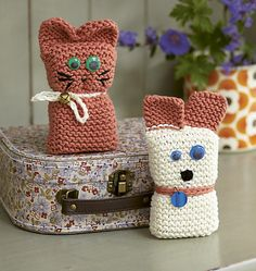 Cat And Dog Toy Knitting Patterns - The Knitting Network Knitting Club, Knitting For Kids, Knitting For Beginners, Easy Knitting, Loom Knitting, Knitting Projects, Knitted Dolls, Crochet Toys, Knit Crochet