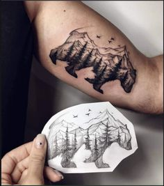 """Press LIKE if you Notice That """"The landscape is bear"""" #tattoo #beauty #love #miami #california #beach #makeup #art"""