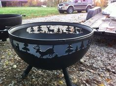 Fire pits made from the ends of propane tanks