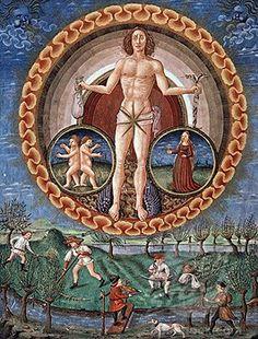 Alchemy: Mercury. De Sphaera Biblioteca Estense Universitaria (Modena, Italy), 15th century. An #Alchemy artwork.