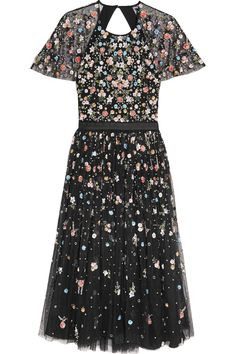 Needle & Thread | Starburst open-back embellished tulle midi dress | NET-A-PORTER.COM