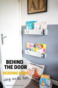 behinf the door reading nook Kids Bedroom Organization, Kids Bedroom Storage, Small Space Organization, Organization Ideas, Den Furniture, Kids Bedroom Furniture, Cheap Furniture, Furniture Makeover, Bedroom Ideas