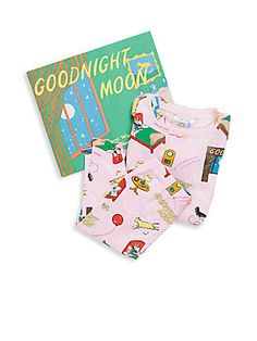Books To Bed Little Girl's Pinkalicious 3-Piece Printed Tee, Pants &am