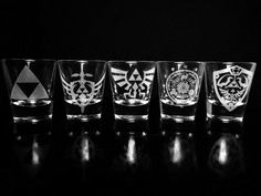 Legend of Zelda Shot-Glas-Set 5 von GopherStudios auf Etsy