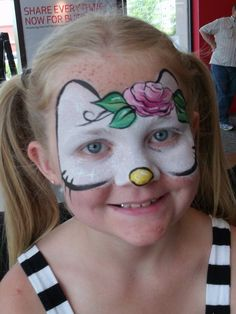 Linda Schrenk || Hello kitty, love the rose for the bow (and the awesome outlining)