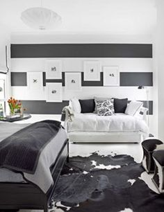 I love horizontal stripe walls.