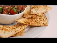 Crispy Baked Tortilla Chips Recipe - Laura in the Kitchen - Internet Cooking Show Starring Laura Vitale