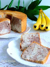 Peng's Kitchen: Banana Hazelnut Chiffon Cake