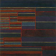"""Paul Klee, """"In the Current of Six Thresholds"""", 1929,  Oil and tempera on canvas, 17 1/8 x 17 1/8 inches"""