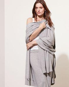 Ribbed Cotton-Blend Cape - Lauren Sleepwear & Loungewear - RalphLauren.com