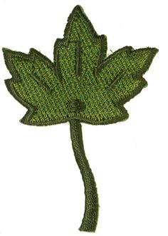 PATCHWORK PANDA LLC - Iron On Patch Applique - Maple Leaf Green, $0.65 (http://www.patchworkpandatrims.com/iron-on-patch-applique-maple-leaf-green/)