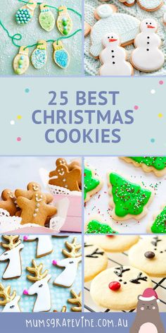 25 best Christmas cookies! Celebrate Christmas with a fresh batch of homemade Christmas cookies. These Christmas recipes make the perfect Christmas treat and are a yummy Christmas food for kids too. #christmas #homemade #christmascookies #christmasrecipes #recipes #christmasfoodforkids #christmastreats #treats