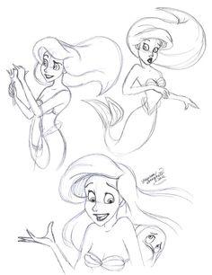 Ariel- Quick Sketches