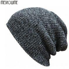 Brand Bonnet Beanies Knitted Winter Caps Skullies For Women Men Warm Baggy  Wool ad407cca44a