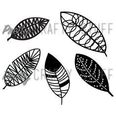 Cut file  Leaves or feathers SVG file for by PrettyCraftyStuff