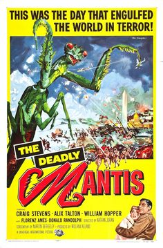 """""""The Deadly Mantis"""" - Horror Movie Poster"""