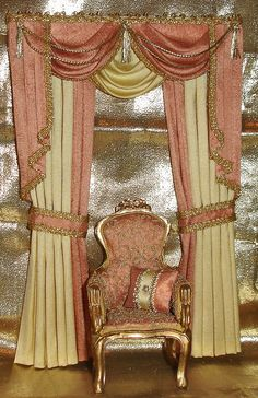 SWAGS & TAILS CURTAINS - SIMPLY SILK MINIATURES
